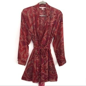 Victoria's Secret Robe Red One Size Pockets Belted